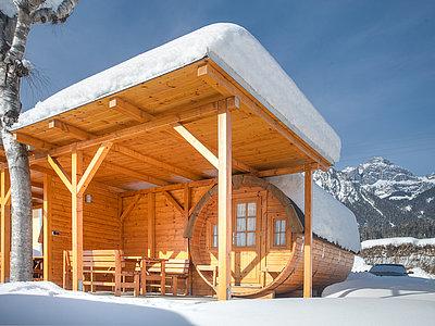 Campingfass für 2 Personen im Winter - Camping Inntal