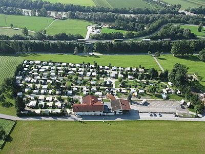 Luftaufnahme Camping Inntal in Wiesing