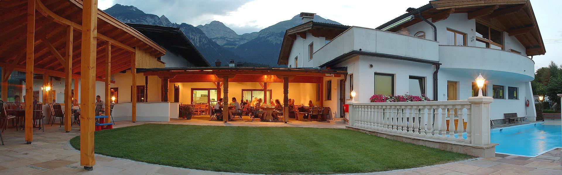 "Panorama Terrasse ""Inntal Stadl"" - Camping Inntal"