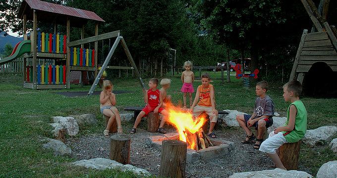 Kinder Spielplatz - Camping Inntal
