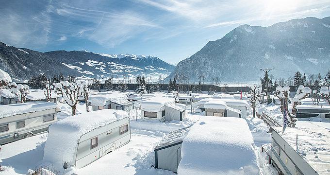 Wintercamping - Camping Inntal